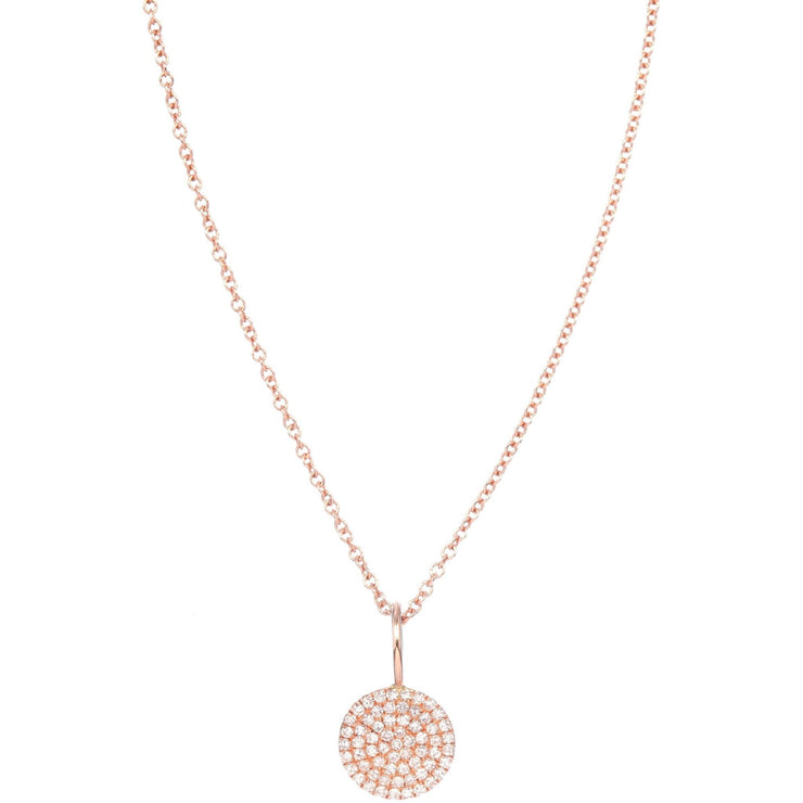 Gold Circle Necklace | Pave Diamonds - Lexie Jordan Jewelry