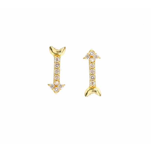 Gold Diamond Arrow Studs - Lexie Jordan Jewelry