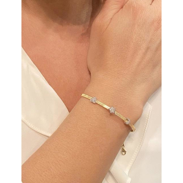 Gold Star, Heart, and Moon Diamond Bracelet - Lexie Jordan Jewelry