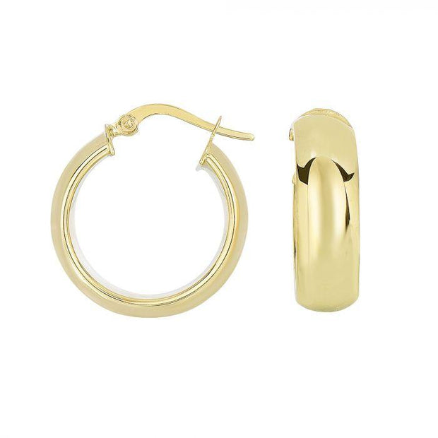 Gold tube hoop earrings - Lexie Jordan Jewelry