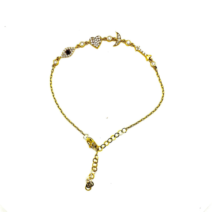 I Love You to the Moon and Back Bracelet| 14 kt gold | natural diamonds - Lexie Jordan Jewelry