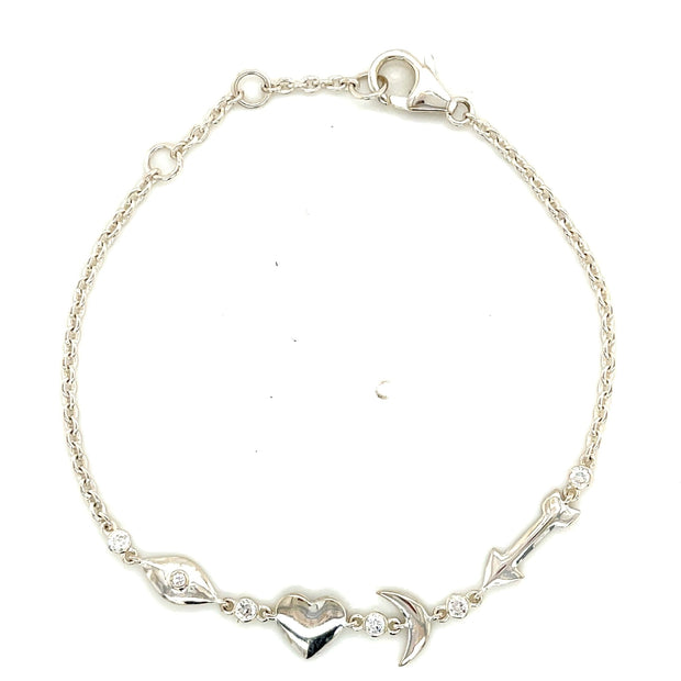 I Love You To The Moon And Back Sterling Silver Bracelet - Lexie Jordan Jewelry