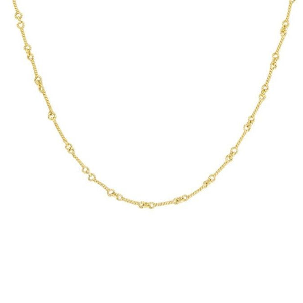 Interlocking Twist Gold Chain | 18K | Handmade - Lexie Jordan Jewelry