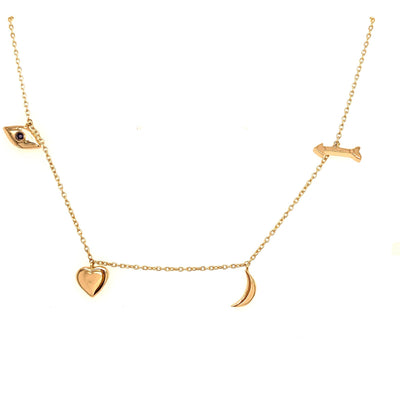Love Necklace | I love you to the Moon and Back 14 K GoldNecklace - Lexie Jordan Jewelry