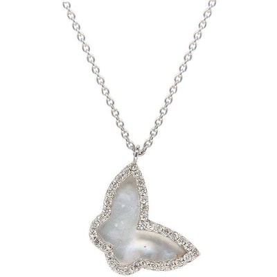 Mother of Pearl Butterfly Necklace - Lexie Jordan Jewelry