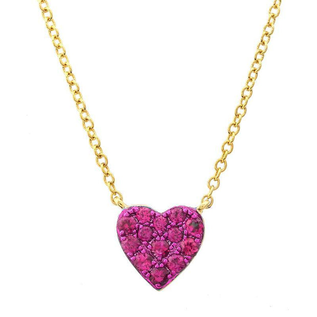Ruby heart necklace - Lexie Jordan Jewelry