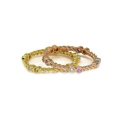 Stackable Gold Rings| 18K Gold | Gemstones - Lexie Jordan Jewelry