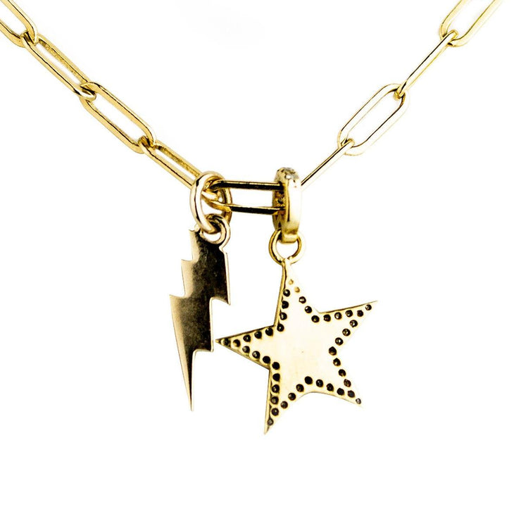 Star & Bolt Gold Charm Necklace - Lexie Jordan Jewelry