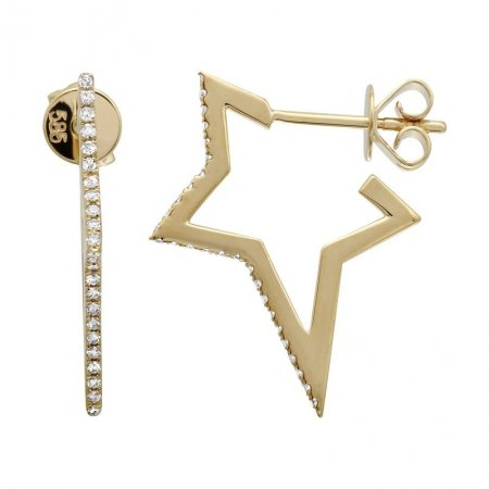 Star Diamond and Gold Earring - Lexie Jordan Jewelry