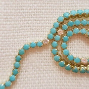Turquoise and Diamond Tennis Bracelet - Lexie Jordan Jewelry