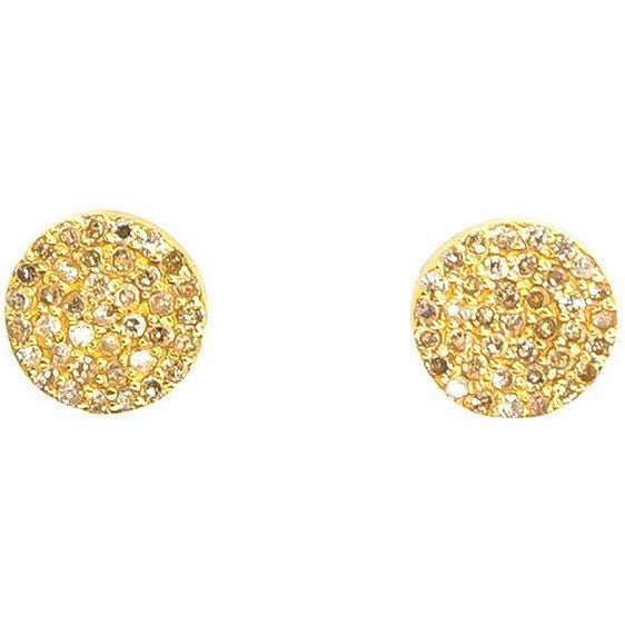 Pave Diamond Circle Earrings | 14K | Pave Diamonds - Lexie Jordan Jewelry
