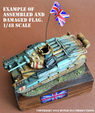 Pirate Flag #4 - 1/72, 1/48, 1/35, 1/32 Scales - Duplicata Productions