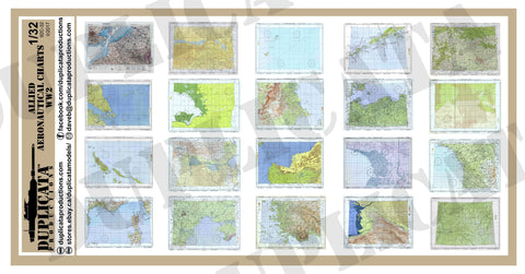 Allied Aeronautical Charts - WW2 - 1/32 Scale - Duplicata Productions