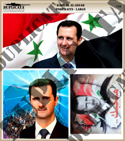 Large Assad Portraits, Syrian Civil War - 1/35 Scale - Duplicata Productions