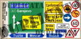 Bosnian Highway Signs, Yugoslav Wars - 1/35 Scale - Duplicata Productions