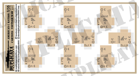 American C Rations Cartons, Vietnam War - 1/35 Scale - Duplicata Productions