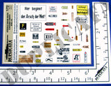 German Road Signs, Eastern Front #2 -  WW2 - 1/72 Scale - Duplicata Productions
