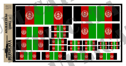 Afghan Flag - 1/72, 1/48, 1/35, 1/32 Scales - Duplicata Productions