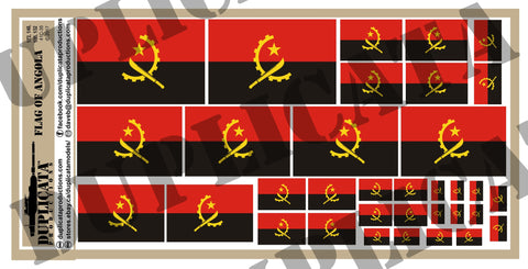 Angolan Flag - 1/72, 1/48, 1/35, 1/32 Scales - Duplicata Productions