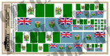 Rhodesian Flag - 1/72, 1/48, 1/35, 1/32 Scales - Duplicata Productions