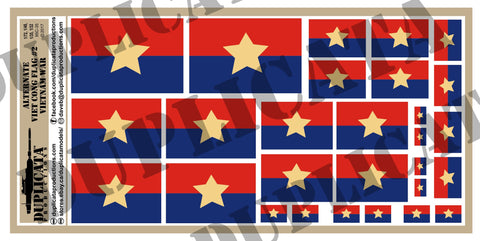 Viet Cong Alternate Flag #2, Vietnam War - 1/72, 1/48, 1/35, 1/32 Scales - Duplicata Productions