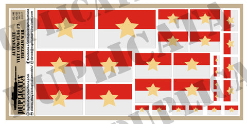 Viet Cong Alternate Flag #3, Vietnam War - 1/72, 1/48, 1/35, 1/32 Scales - Duplicata Productions