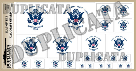Flag of The United States Coast Guard - 1/72, 1/48, 1/35, 1/32 Scales