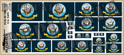 Flag of The United States Navy - 1/72, 1/48, 1/35, 1/32 Scales