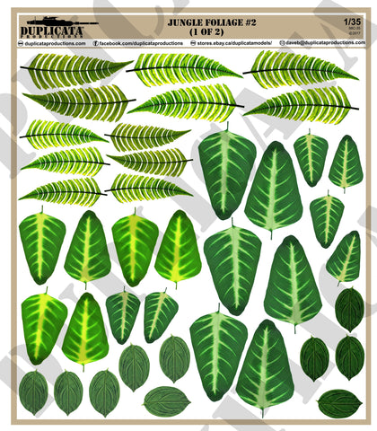 Jungle Foliage #2 - 1/35 Scale - Duplicata Productions