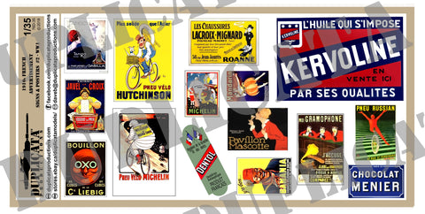French 1910s Advertisements #2 -  WW1 - 1/35 Scale - Duplicata Productions