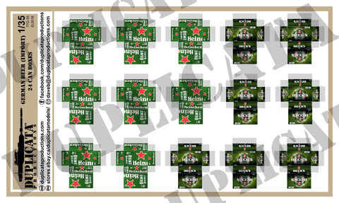Imported Beer,  24 Can Beer Boxes #1 - 1/35 Scale - Duplicata Productions