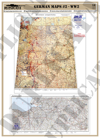 German Maps #2 - WW2 - 1/6 Scale - Duplicata Productions