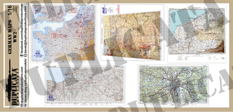 German Maps - WW2 - 1/16 Scale (120mm) - Duplicata Productions