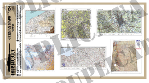 German Maps - WW2 - 1/24 Scale - Duplicata Productions