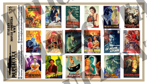 Italian Movie Posters -  WW2 - 1/35 Scale - Duplicata Productions