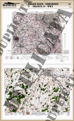 Allied Maps - WW2 - Northern France #1 - 1/6 Scale - Duplicata Productions