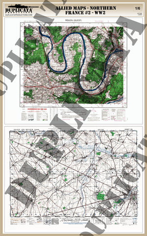 Allied Maps - WW2 - Northern France #2 - 1/6 Scale - Duplicata Productions