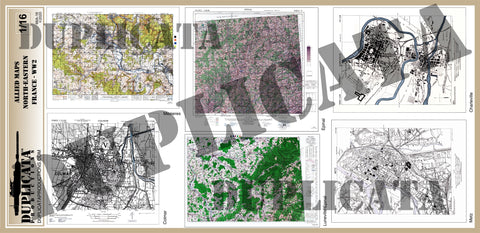 Allied Maps - WW2 - North-Eastern France - 1/16 (120mm) Scale - Duplicata Productions