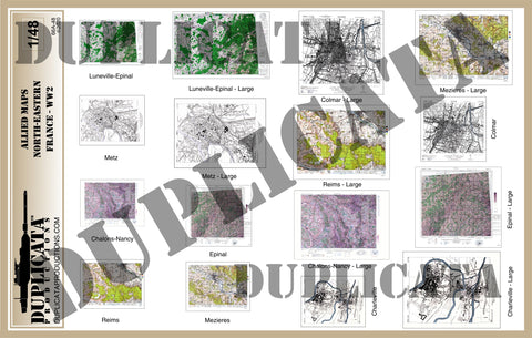 Allied Maps - WW2 - North-Eastern France - 1/48 Scale - Duplicata Productions