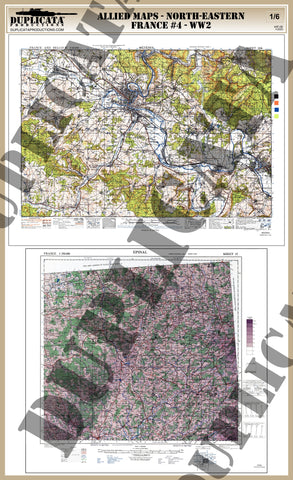 Allied Maps - WW2 - North-Eastern France #4 - 1/6 Scale - Duplicata Productions