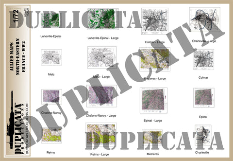 Allied Maps - WW2 - North-Eastern France - 1/72 Scale - Duplicata Productions