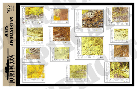 Maps - Afghanistan - 1/35 Scale - Duplicata Productions