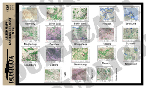 Allied Maps - Eastern Germany, WW2 - 1/35 Scale - Duplicata Productions