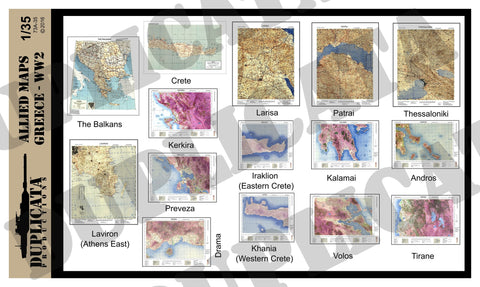 Allied Maps - Greece, WW2 - 1/35 Scale - Duplicata Productions