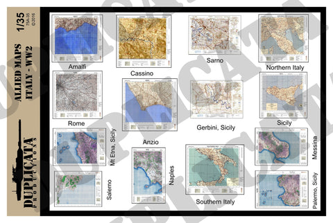Allied Maps - Italy, WW2 - 1/35 Scale - Duplicata Productions