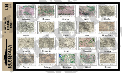 Allied Maps - Poland, WW2 - 1/35 Scale - Duplicata Productions
