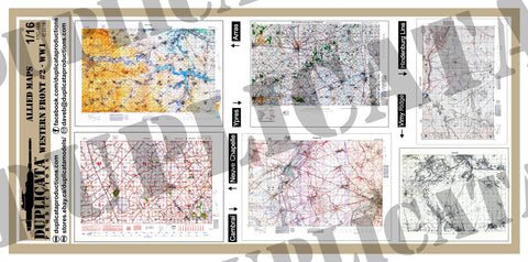Allied Maps, Western Front #2 - WW1 - 1/16 Scale (120mm) - Duplicata Productions