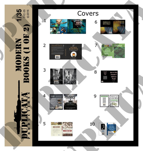 Modern Books - 1/35 Scale (2 sheets) - Duplicata Productions