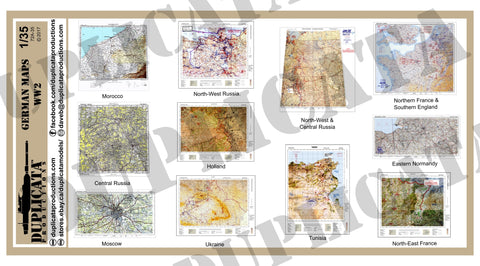 German Maps - WW2 - 1/35 Scale - Duplicata Productions