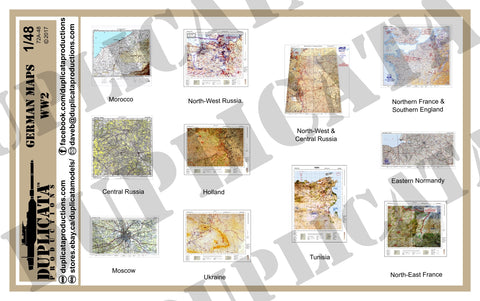 German Maps - WW2 - 1/48 Scale - Duplicata Productions